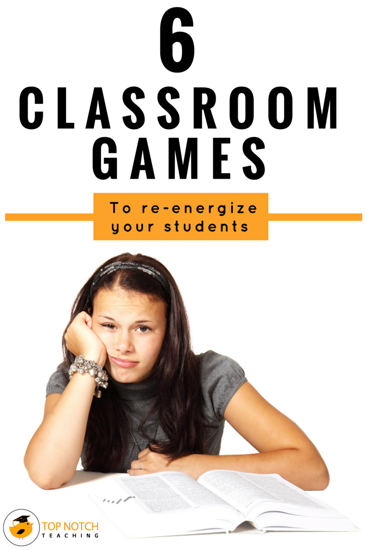 Does this sound familiar, you're talking to your class about a particular concept and your students look back at you with blank looks on their faces or you ask a question and all is silent? Then this is just the time to use a quick game to re-energize your students and get them ready for learning again. Whether you're after a quick indoor game for the whole class or a brain break, I'm sharing my top six classroom games.