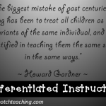 Tuesday Teaching Tips: Differentiated Instruction