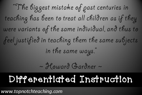 Tuesday Teaching Tips Differentiated Instruction Top Notch Teaching