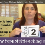 A Quick and Easy Math Activity to Help Teach Number