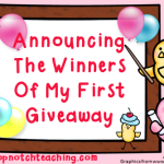 Announcing The Winners Of My First Giveaway