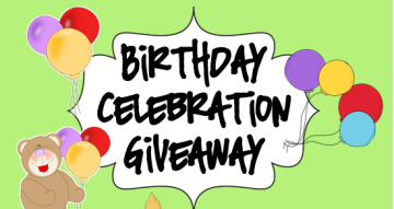 Birthday Celebration With A Giveaway