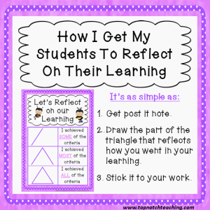 reflect learning | topnotchteaching.com