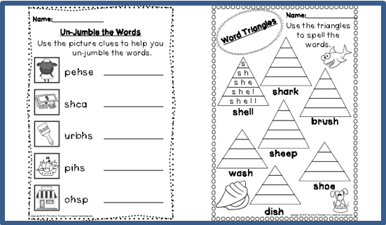 3 Activities To Help Teach Digraphs – Sh Digraph Worksheets