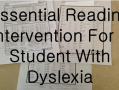 Essential Reading Intervention For A Student With Dyslexia | topnotchteaching.com