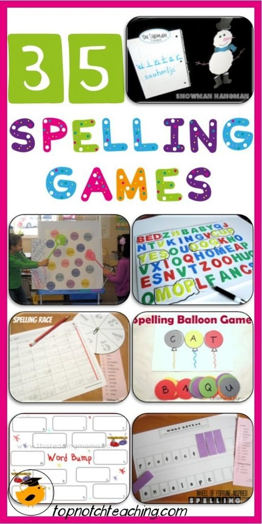 Spelling Games For Students Of All Ages | topnotchteaching.com