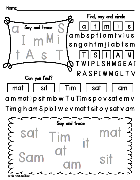 TnT Weekly Wrap: Free Phonics Printable | topnotchteaching.com