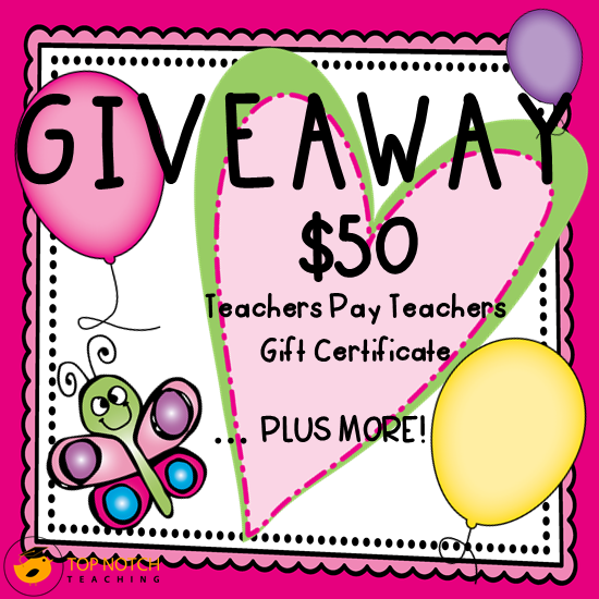 Thank You Giveaway | topnotchteaching.com