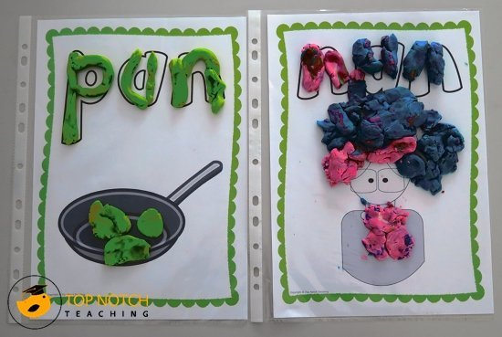 How you can use play dough to review spelling words   topnotchteaching.com