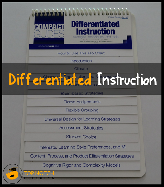 A Practical Guide To Differentiated Instruction Top Notch Teaching