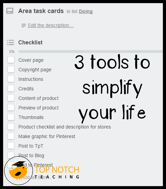 Here are the 3 tools that I've been using so far this year to organize my life and to simplify things so that it's easy for me to work out what I need to do.