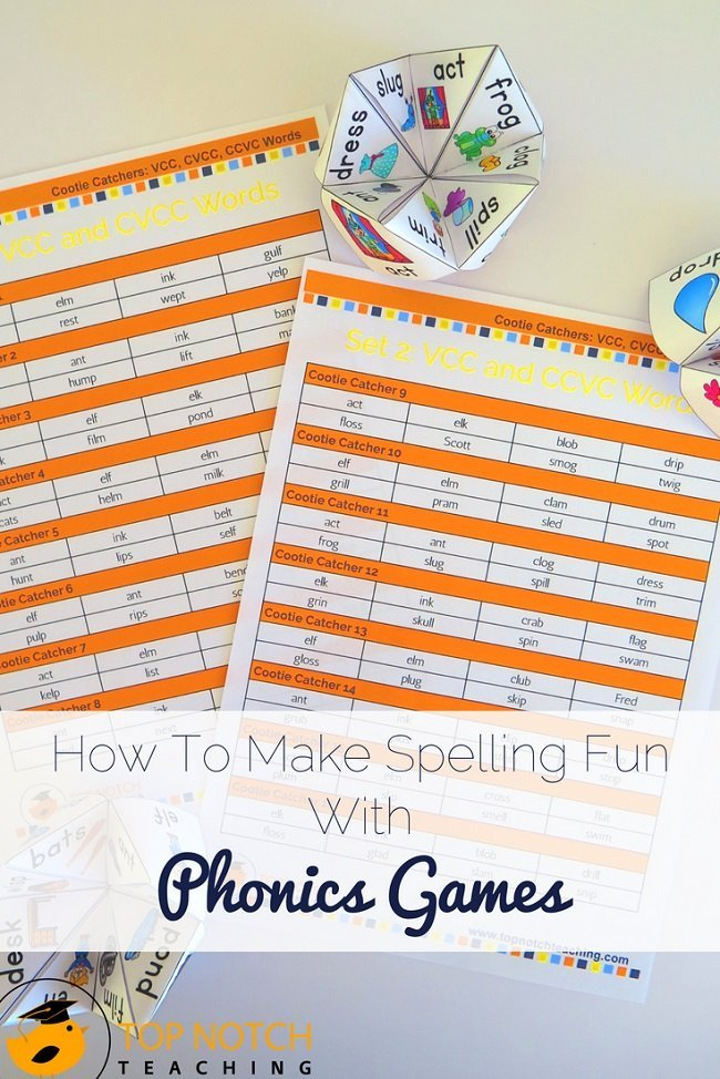 Using phonics games to help teach reading and spelling is a great way to engage your students and is a perfect way to review and practice words and sounds. If you're looking for fun and easy phonics games and activities for your elementary classroom then this is the place for you. Suitable for kindergarten, 1st, 2nd or 3rd grade, these games are really popular with my students...try them out today. #literacy #spelling #phonics #teacherresources #kindergarten #1stgrade #2ndgrade #3rdgrade