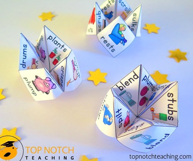Using phonics games to help teach reading and spelling is a great way to engage your students. Here are some phonics board games and cootie catchers.