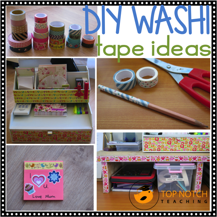 You can use washi tape to decorate just about anything. Here are some more washi tape ideas.