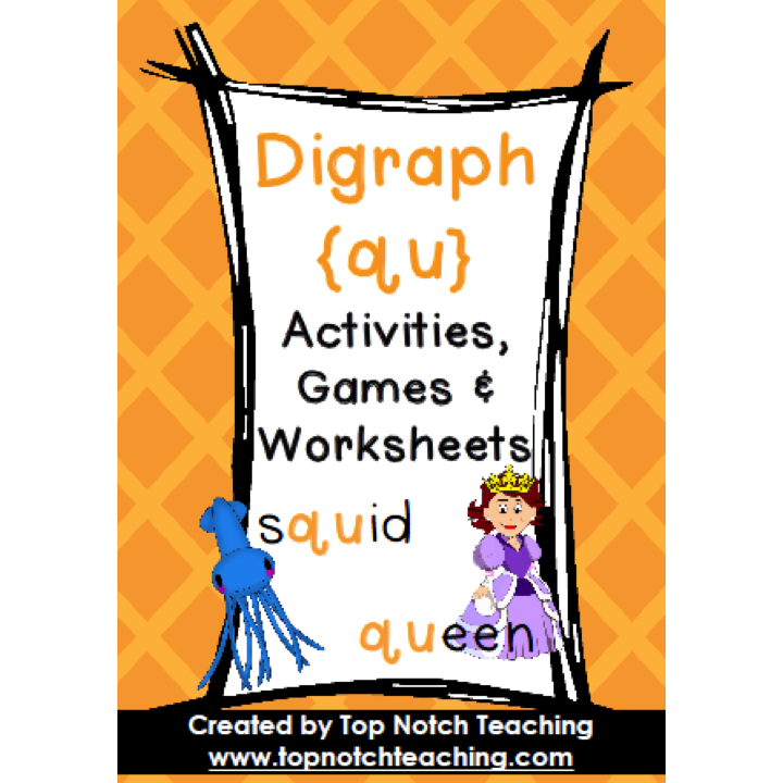 Digraph Activities Games Worksheets qu Top Notch Teaching – Diagraph Worksheets