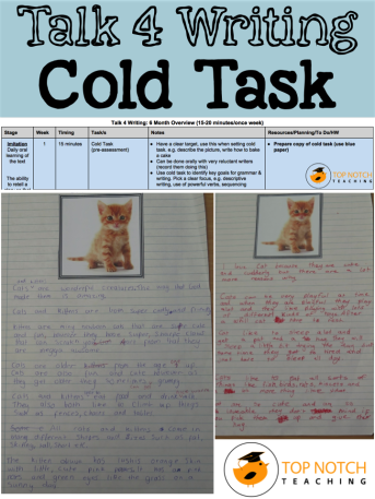Talk for Writing – Cold Task