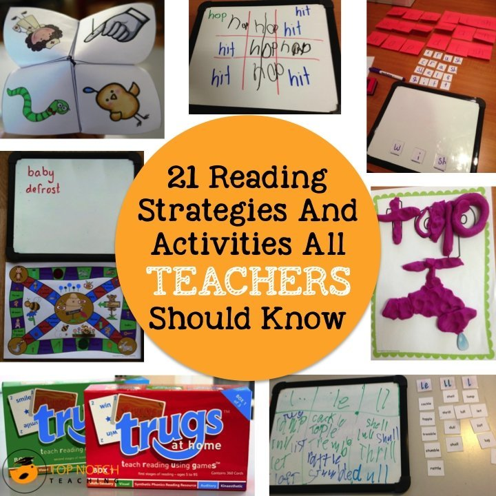 Pick up some great ideas about how you can help your students to read. 21 of the most popular reading strategies, games and activities.