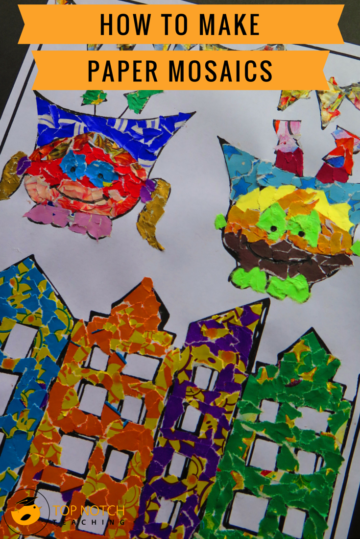 How To Make Paper Mosaics For Kids