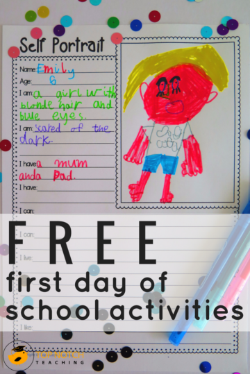 5 Free First Day Of School Activities