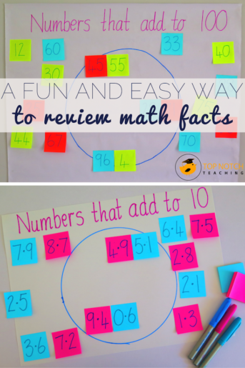 A Fun And Easy Way To Review Math Facts