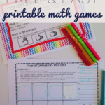 Who Else Wants Some Free & Easy Printable Math Games?