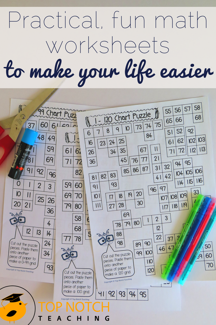 Practical, Fun Math Worksheets To Make Your Life Easier - Top Notch ...