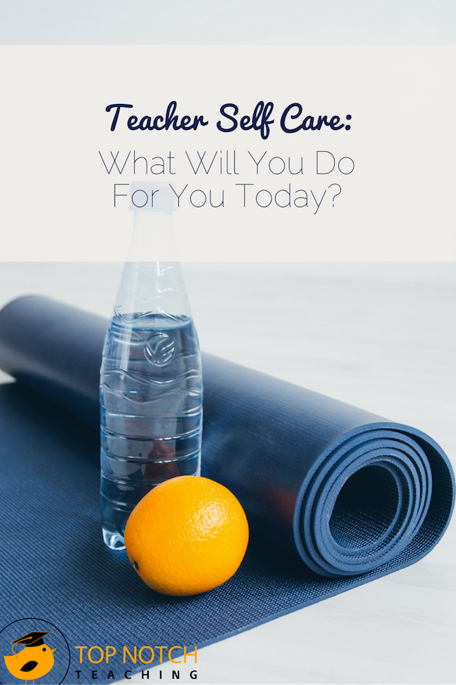 Practicing regular teacher self care keeps us from burning out - and it doesn't have to take a lot of time. Do something for yourself today.
