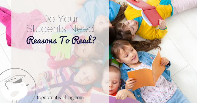 In your classroom create time and a positive experience around daily reading. And give students reasons to read. I've got 13 great reasons to read.