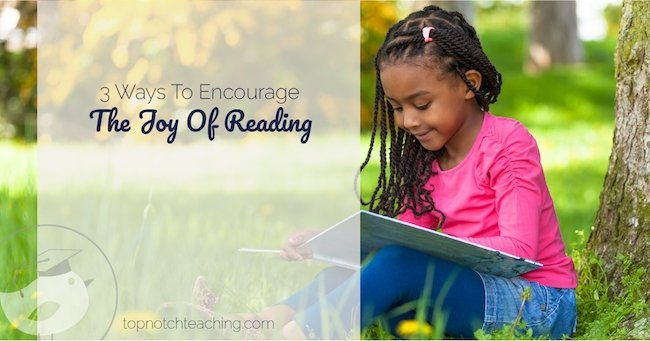 The joy of reading is so important to get and keep kids reading. When enjoyment and skills go together, reading takes off.