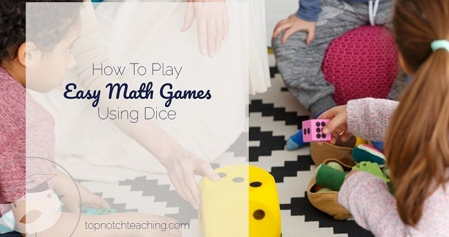 Math games let kids practice and consolidate math skills in a non-threatening and highly motivational way. Today I'm sharing easy math games using dice.
