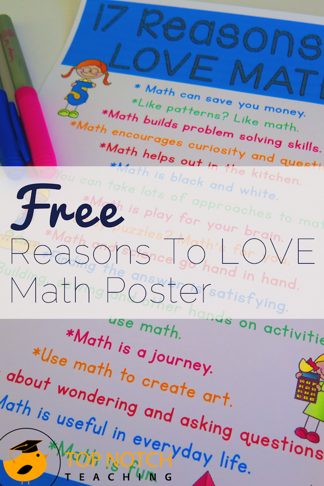 How do we create math lovers? Discover the joy of math yourself if you don't already love it. I'm sharing 17 great reasons to love math.