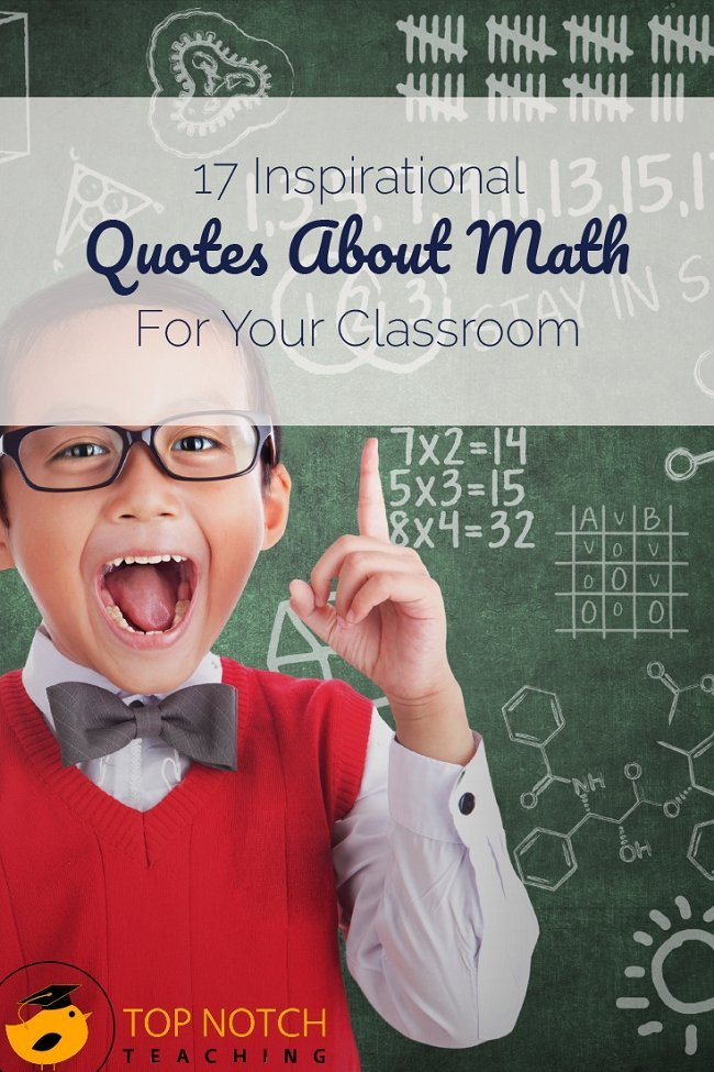 Teaching math can be part inspiration. Today, I've got inspirational quotes about math for your classroom.