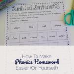How To Make Phonics Homework Easier (on yourself)