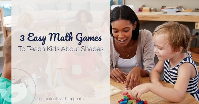 Teaching about shapes can be fun. Before we jump into some easy math games to teach kids about shapes, let's talk about the language you need to teach them.