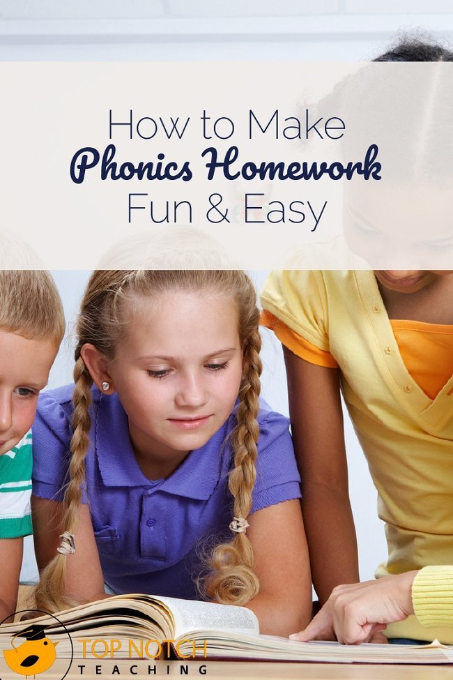 Phonics homework doesn't have to be a chore—for you or your students. Here are some easy phonics homework activities to try.