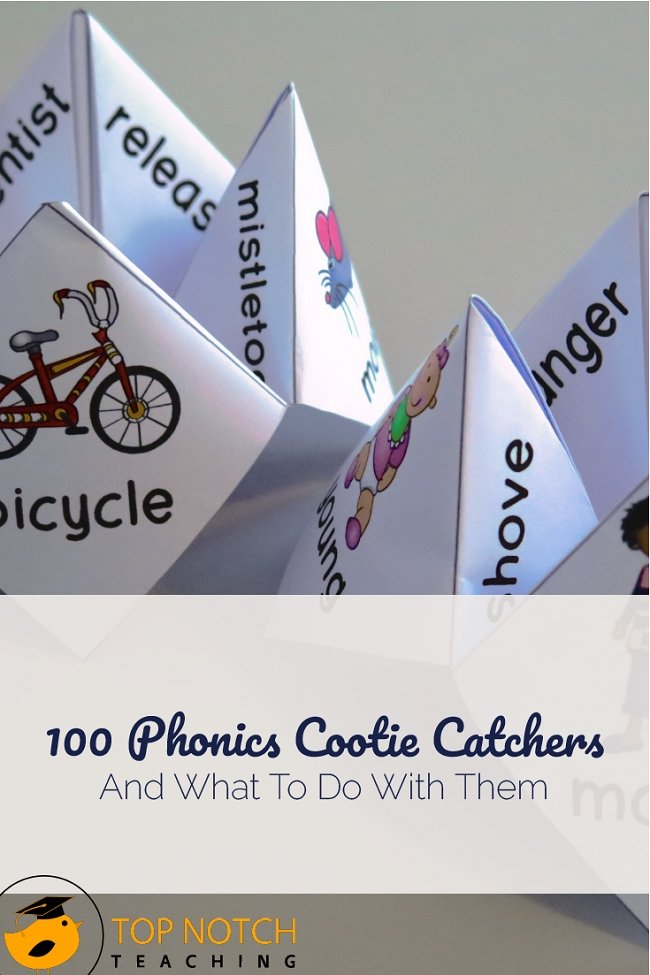 Given the multiple ways to use phonics cootie catchers and the fun students have using them, you can never have too many! Keep phonics fun—and easy on you.