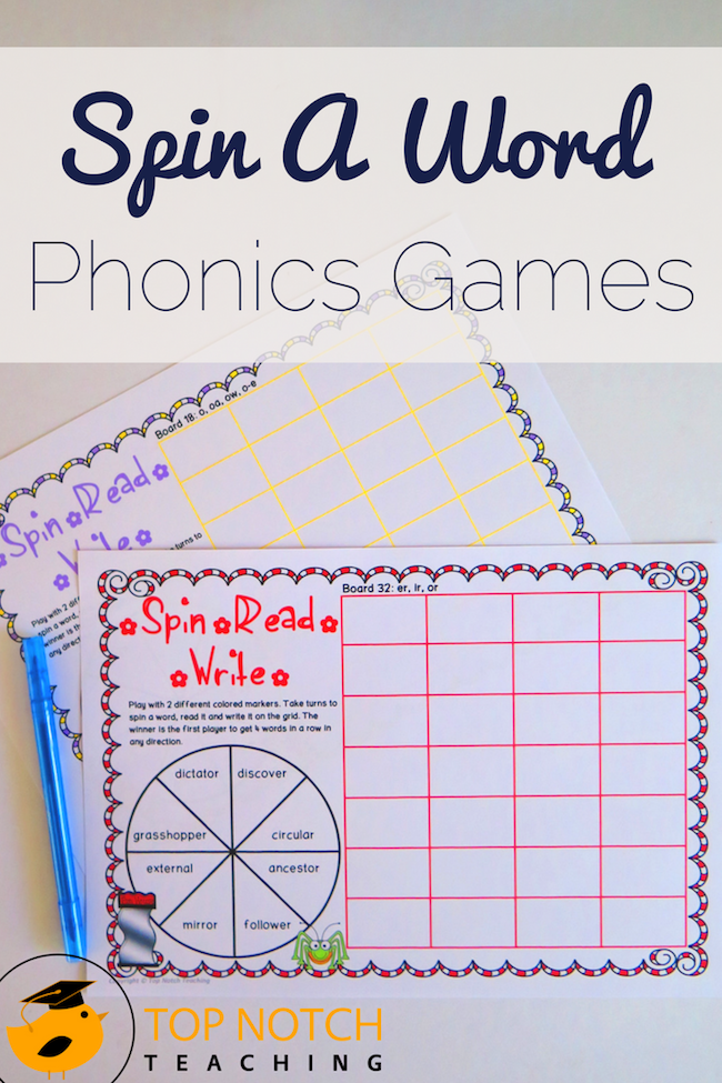 Keep phonics fun—and easy for you. Spin a word phonics games are an engaging way to help your students revise and practice words during spelling time.