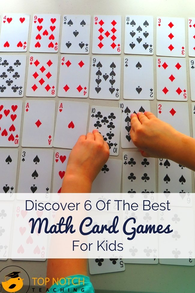 Are you after some fun math games that you can use with your students? Maybe you're teaching your kids about problem solving or you would like to develop their number work. I find math card games are a fantastic way for kids to practice and consolidate math skills, but in a non-threatening and highly motivational way. So, I'm sharing my top 6 fun math games using cards....try them out with your class today. #mathgames #mathforchildren