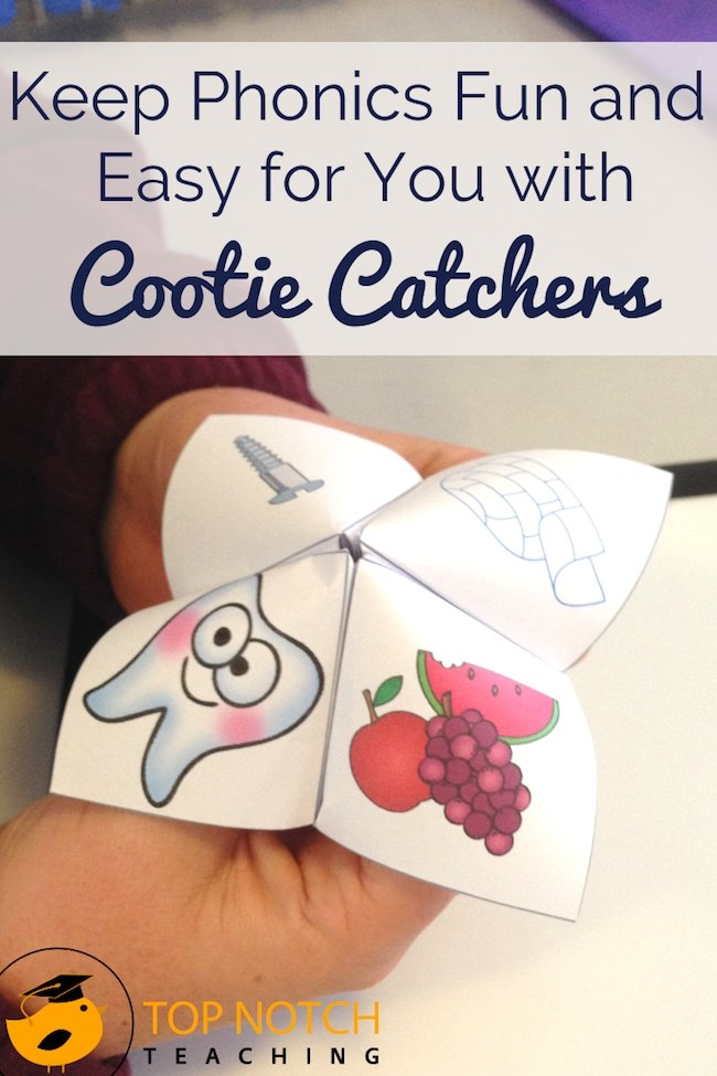 Keep phonics fun and easy for you with cootie catchers. They're a favorite with kids—and a fab way to practice the skills of blending and segmenting sounds.