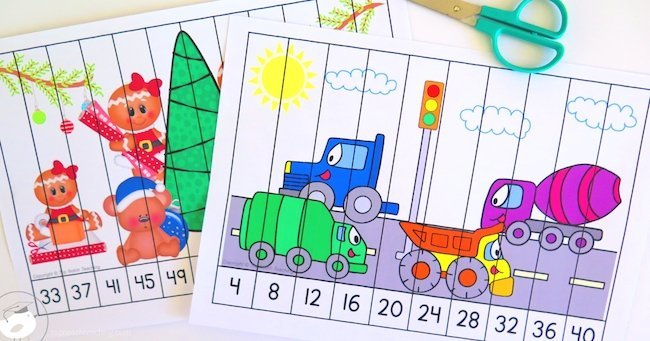 Do your students need help with skip counting? These skip counting puzzles are a fabulous way to help your students master skip counting.