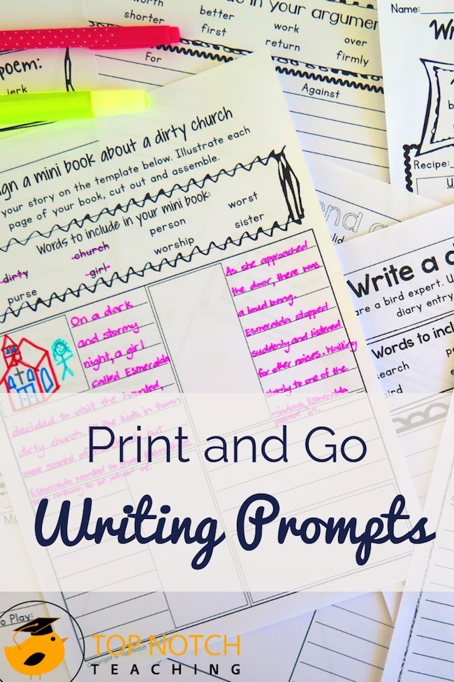 Help your students become confident writers with these PRINT and GO phonics writing prompts. They will even encourage your most reluctant writers to begin.
