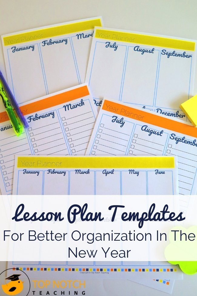 Lesson plan templates can help you get off to a great start and keep you on track this year. They are an easy way to keep track of your important events, tasks, lessons and assessments. You don't have to recreate the wheel when it comes to planning. My lesson plan templates pack has you covered. Ready to get organized? #teacherresources #teacherorganization #classroomorganization