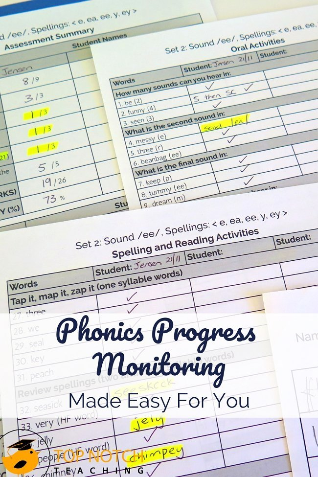 To judge whether your phonics program or intervention is working, you need data. To understand how individual students are grasping and applying new concepts, you need data as well. And that comes through phonics progress monitoring. The good news is phonics progress monitoring doesn't have to be difficult or time-consuming! #literacy #phonics #reading #spelling
