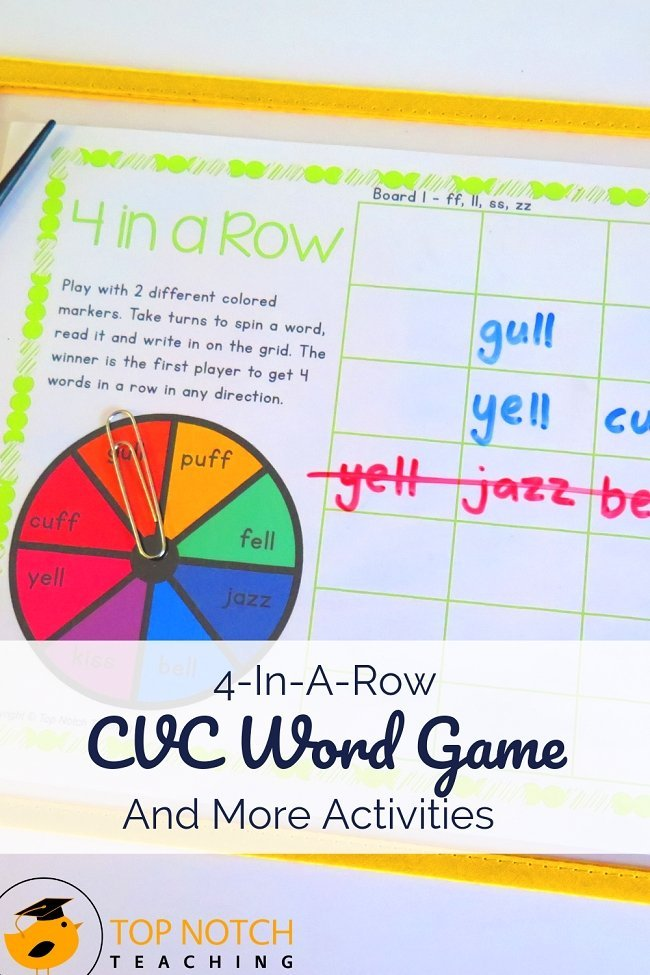 Are you teaching your class phonics? What's the best way to keep them engaged...by making it fun. That's why you can never have too many CVC word games and activities, so I thought I'd share some of my favorites today. #literacy #reading #spelling #phonics