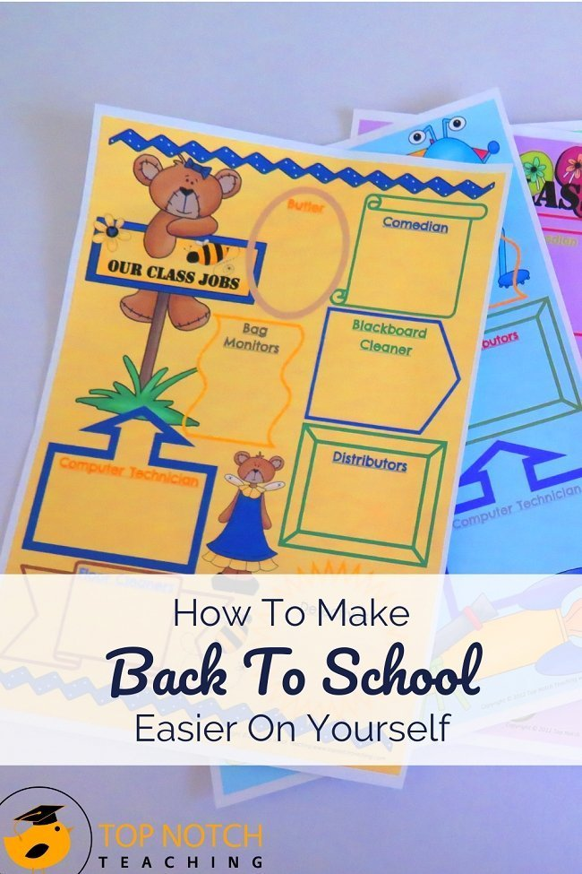 Are you ready for back to school? Why not make it a little easier on yourself this year? Start with a good plan and add in the right resources to help set you up for success. Here are 7 things that can help make back to school easier and help you be ready throughout the year. #backtoschool #teacherresources #classroommanagement #classroomorganization