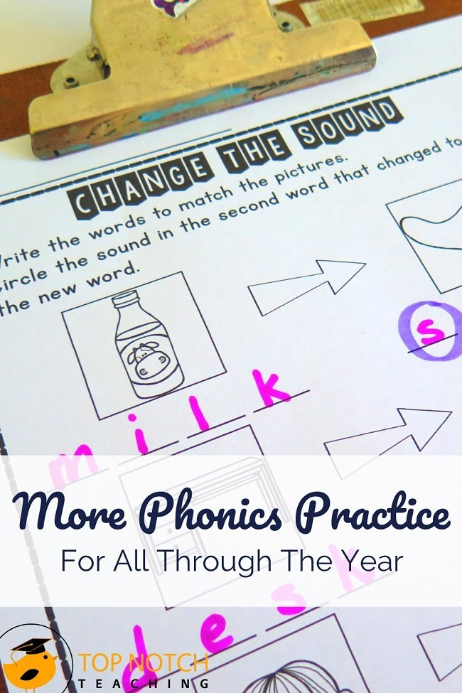 There are so many skills to cover in phonics. And there's one thing we know: students need plenty of phonics practice. One way to assure students get the phonics practice they need is to create a phonics practice plan with a variety of activities. Try out this sample plan with your kids and see what a difference it makes. #literacy #spelling #phonics