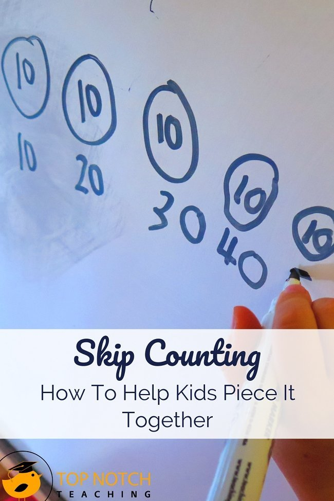 "Some kids will struggle with skip counting more than others, but even when kids ""get it"" there are often points where they get stuck. Today I discuss the three most common skip counting sticking points and how students can move past them. #mathactivities #mathgames #teachingmath"