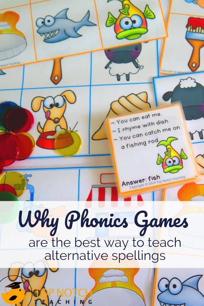 Kids love playing games so I have a lot of phonics games in my teaching bag of tricks. Do you play games in your classroom? While games are sometimes seen as a distraction or break or maybe even a treat for Friday they are actually a fabulous teaching tool. Depending on the particular phonics game, kids can practice reading skills like segmenting and blending, writing and spelling words, and saying words and sounds. #literacy #phonics #reading #spelling