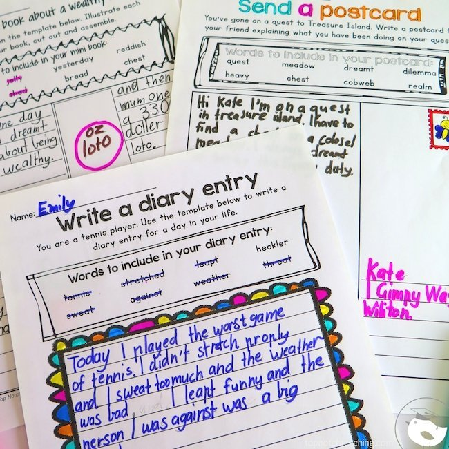 Writing prompts are a great addition to the worksheets, activities, and phonics games that you probably already use in your phonics or literacy stations.
