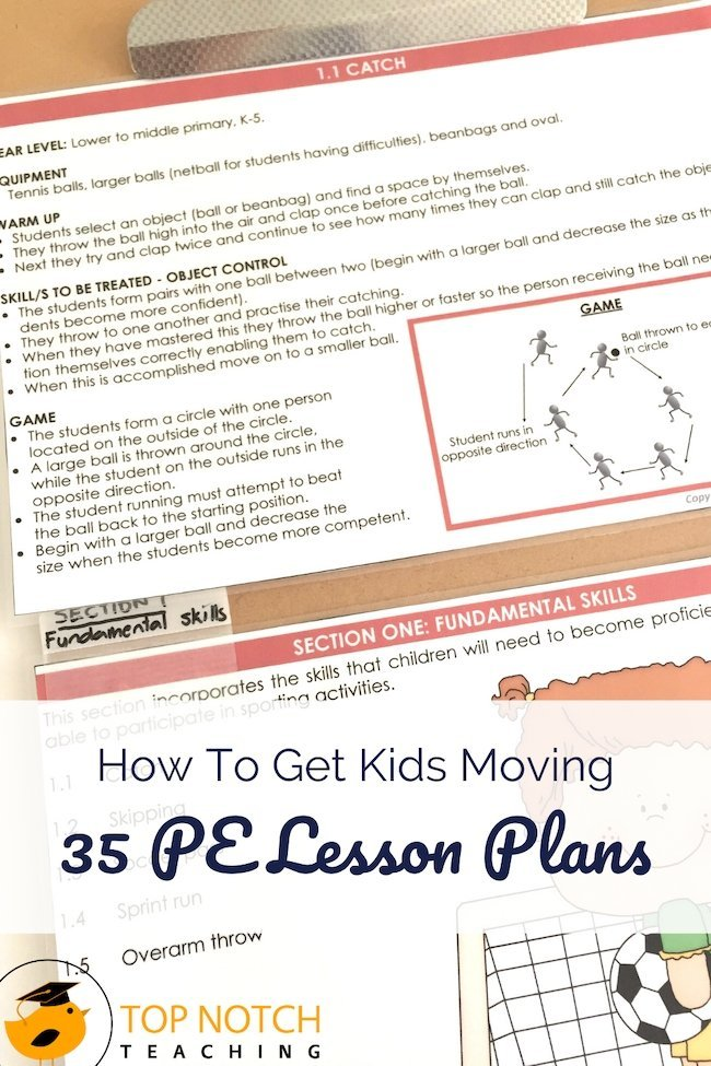Do you groan when it comes time for physical education? Or maybe just wish you had PE lesson plans ready to follow without having to come up with ideas to get kids moving? Having a bunch of ideas to draw from makes it a lot easier to get through your PE lessons.